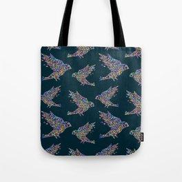 Mosaic bird pattern Tote Bag