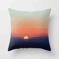 Colors Sunset Throw Pillow