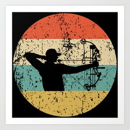 Bow Hunting Vintage Retro Archery Art Print