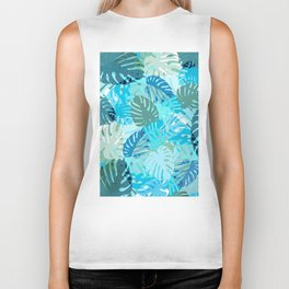 Tropical Blues Biker Tank