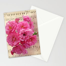 Vintage Music and Roses Stationery Cards