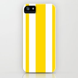 Mixed Vertical Stripes - White and Gold Yellow iPhone Case