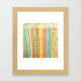 Storytime vintage book photograph Framed Art Print