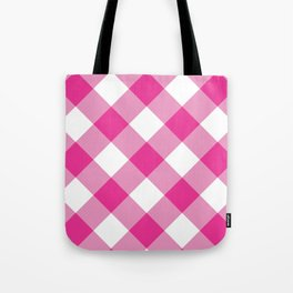 Gingham - Pink Tote Bag