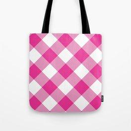 Gingham - Pink Tote Bag
