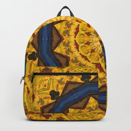 Gold Magical Star Kaleidoscope Backpack