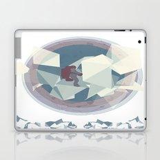 Astronaut and ice planet Laptop & iPad Skin