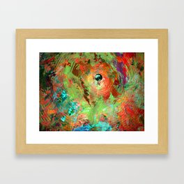 psychedelic  cymbal Framed Art Print