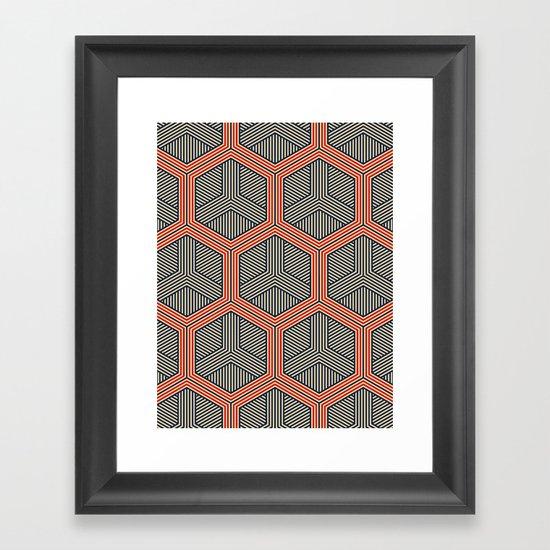 Hexagon No. 1 Framed Art Print