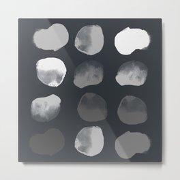 Slate Dots Metal Print