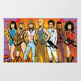 SuperWomen of the 80s - Fight The Power! Rug