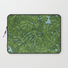 monstera leaves green aquamarine Laptop Sleeve