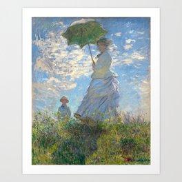 Monet - Madame Monet and Her Son - 1875 Art Print