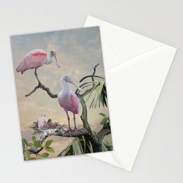 Spoonbills Of Florida Stationery Cards