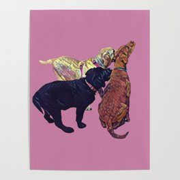 Three Amigos II in pink Poster