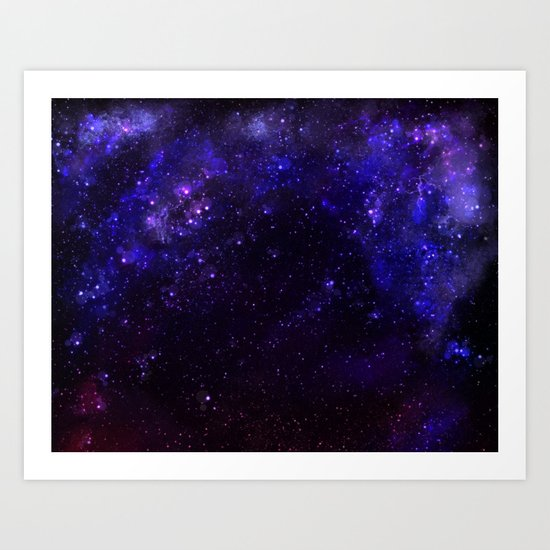Blue Shift Art Print