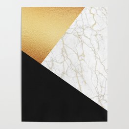 GOLDEN MARBLE TRIANGLE Poster