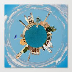 Rethymno little planet Canvas Print
