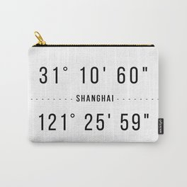 Shanghai Coordinates Minimalistic Carry-All Pouch