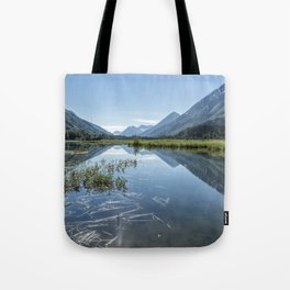 Reflections on Tern Lake Tote Bag