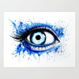 """Her blue eye"" Art Print"