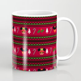 Christmas Mouse Ears Ugly Sweater Pattern Coffee Mug