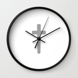Cross - Gray Wall Clock