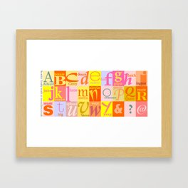 Scottish Couthie Words Alphabet. Framed Art Print