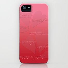 My Valentine iPhone Case