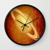 planet Wall Clocks featuring Planet by Fine2art