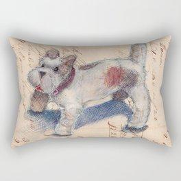 Chenille Dog Rectangular Pillow
