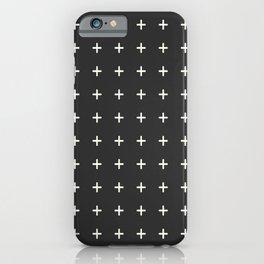 + print- black iPhone Case