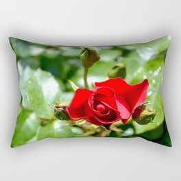 red rose Rectangular Pillow