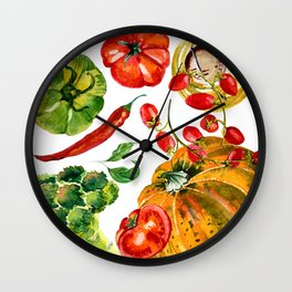 Vegetable mix Wall Clock
