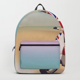 Union Jack Scooter Travel poster, Backpack