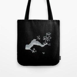 Cherry tree inverse Tote Bag