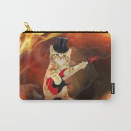 rocker cat in flames Carry-All Pouch