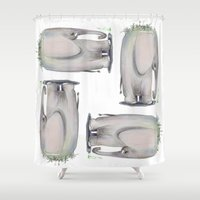 baby elephant Shower Curtains featuring Baby Elephant by Corner HL