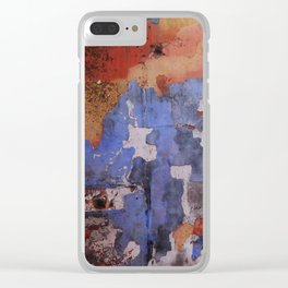 Abstract wall patchwork painting Clear iPhone Case