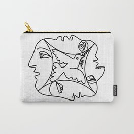 Picasso - Dove of peace and 4 Masks Carry-All Pouch