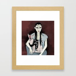Cat people - Bowie edition. Framed Art Print