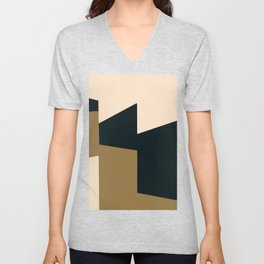 High contrast abstract Unisex V-Neck
