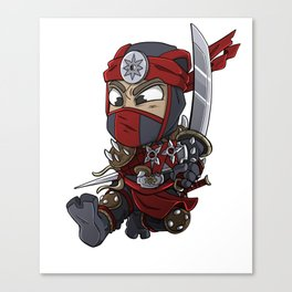 Hippo samurai warrior shirt are best for people who loves everything about japan. Everything from th Canvas Print