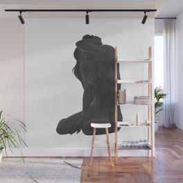 Nude in gray Wall Mural