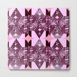 pink and purple diamonds Metal Print