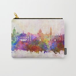 Valladolid skyline in watercolor background Carry-All Pouch