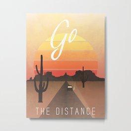 Go The Distance Metal Print