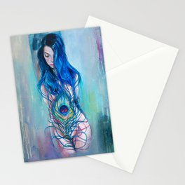 Peafowl Flow Stationery Cards