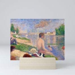 "Georges Seurat ""Final Study for Bathers at Asnières"" Mini Art Print"