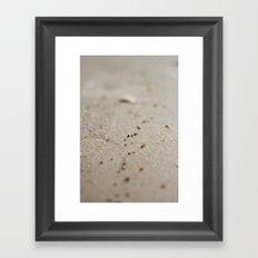 sea sand Framed Art Print